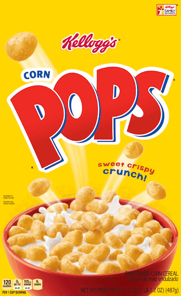 $0.50 for Kellogg's® Corn Pops® Cereal (expiring on Sunday, 05/05/2019). Offer available at multiple stores.