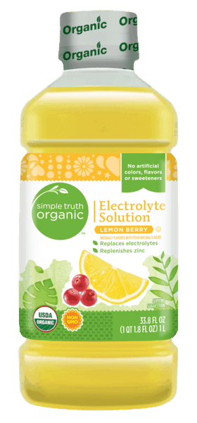 $0.75 for Simple Truth™ Organic Oral Electrolyte Solutions (expiring on Sunday, 06/02/2019). Offer available at Kroger.