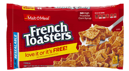 $0.75 for Malt O Meal® French Toasters™ Cereal (expiring on Tuesday, 03/28/2017). Offer available at WinCo Foods.