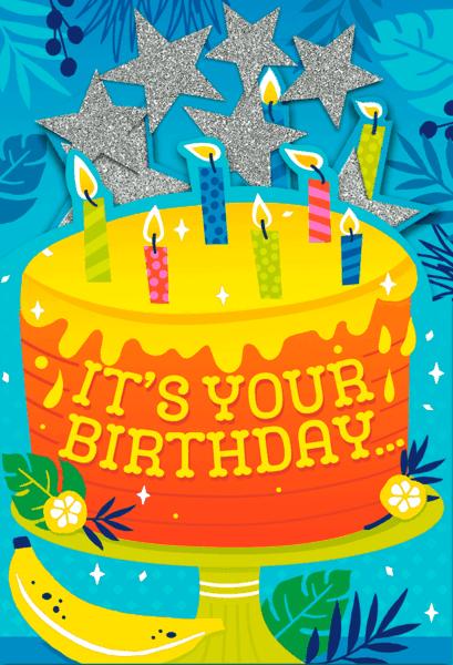 $1.00 for Hallmark Birthday Cards (expiring on Thursday, 09/20/2018). Offer available at Walmart.