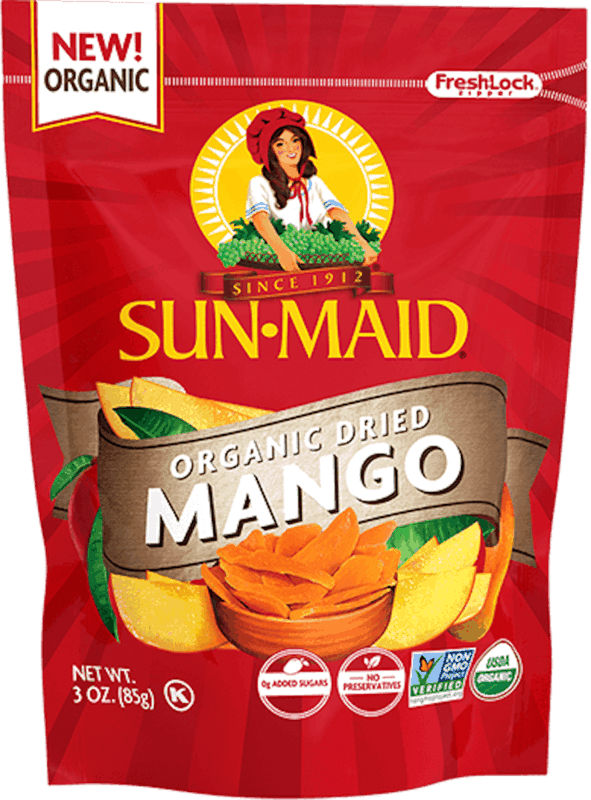 $1.00 for Sun-Maid Organic Dried Mango (expiring on Monday, 05/25/2020). Offer available at multiple stores.