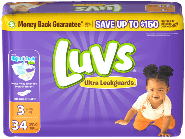 $0.50 for Luvs® Diapers (expiring on Thursday, 08/02/2018). Offer available at Walmart.