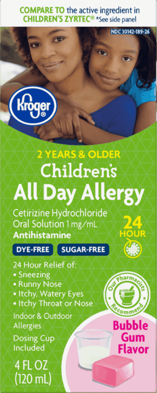 $1.75 for Kroger Children's All Day Allergy Relief (expiring on Wednesday, 05/13/2020). Offer available at multiple stores.