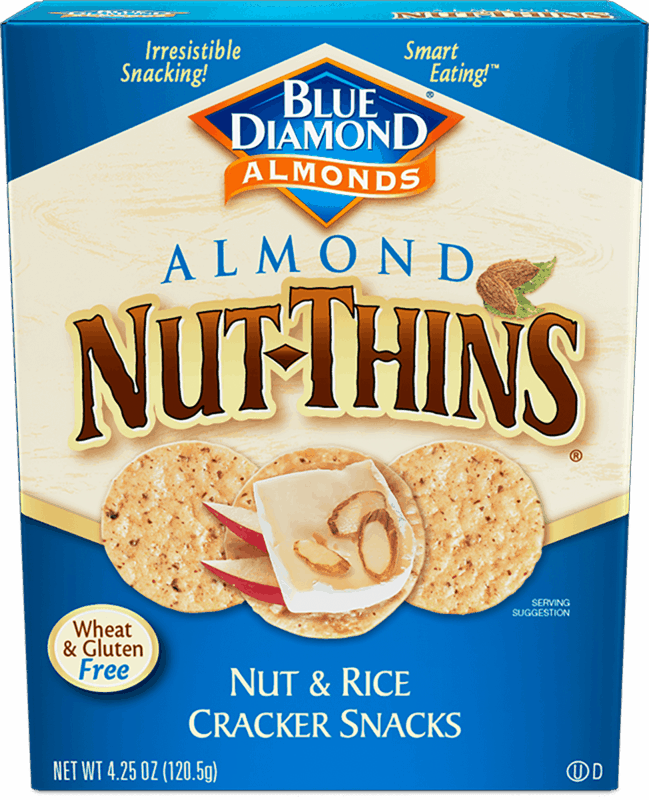 $0.50 for Blue Diamond® Nut-Thins® (expiring on Thursday, 01/02/2020). Offer available at Walmart.