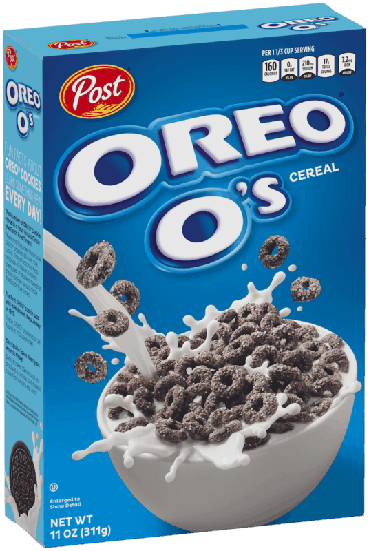 $0.50 for Post Oreo O's Cereal (expiring on Wednesday, 03/31/2021). Offer available at multiple stores.